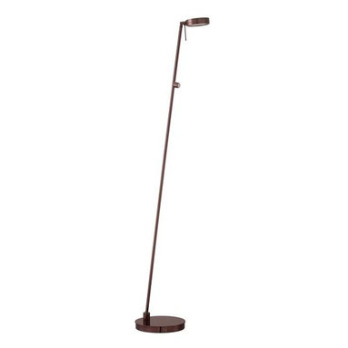Kovacs - Kovacs P4304-631 1 Light LED Floor Lamp in Chocolate Chrome George's Re - Single Light Floor Lamp in Chocolate Chrome from the George's Reading Room-Puck CollectionFeatures: