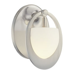George Kovacs - Earring 1-Light Bath Sconce - What goes 'round comes 'round. It's simple: Your good taste and natural sense of design has come full circle … and your good fortune is being manifested by the acquisition of these sophisticated orb-inspired bath lamps.