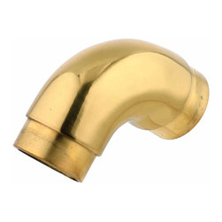 """Renovators Supply - Bar Hardware Solid Brass Elbow 90 degree Fit 1 1/2"""""""" Tube   19071 - Tubing Elbows. Create a stylish railing system with our wide selection of radius tubing elbows and railing connectors. This radius tubing elbow provides a flush mount look to your brass railing. Made of 100% solid brass this connector has a tarnish-resistant powder coated RSF finish which is maintenance-FREE and protects up to 20 times longer than regular lacquers. Sold individually, fits tubing size 1 1/2 inch diameter."""
