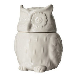 Threshold Stoneware Owl Cookie Jar, White - Fill this owl jar with your favorite holiday cookies and hand it over to a neighbor or friend.