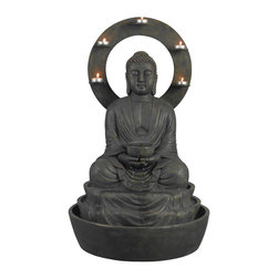 "Kenroy - Kenroy 51004WBZ Ando Outdoor Fountain - A peaceful Buddha, the serene sounds of trickling water, and a halo of candle-glow make for a relaxing evening. Beautifully carved and 30"" tall, Ando is also a tremendous value."