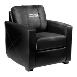 Dreamseat Inc. - Keep Back 500 Feet Xcalibur Leather Arm Chair - Check out this incredible Arm Chair. It's the ultimate in modern styled home leather furniture, and it's one of the coolest things we've ever seen. This is unbelievably comfortable - once you're in it, you won't want to get up. Features a zip-in-zip-out logo panel embroidered with 70,000 stitches. Converts from a solid color to custom-logo furniture in seconds - perfect for a shared or multi-purpose room. Root for several teams? Simply swap the panels out when the seasons change. This is a true statement piece that is perfect for your Man Cave, Game Room, basement or garage.