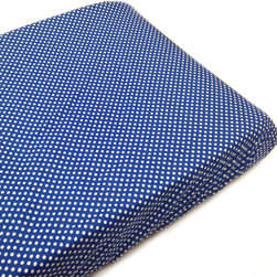 """Simplicity Blue - Changing Pad Cover - Changing pad cover comes in the """"Polka Dot Blue"""" signature fabric in cotton.  Also available in sets!"""