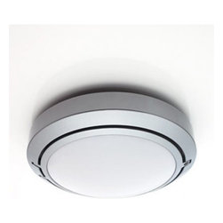 """Metropoli D20/56 wall/ceiling indoor light - The Metropoli wall/ceiling indoor light has been designed by Alberto Meda , Paolo Rizzatto & Riccardo Sarfatti for LucePlan. Metropoli, """"revolutionary within"""". Simple, almost elementary. Elegant, positively impeccable. Each ceiling/wall lamp has a set of interchangeable optics so that incandescent and fluorescent lights can be used for better visual comfort and lower energy consumption. This technical step forward can also be seen in the ease of assembly and maintenance of this lamp. The wide rear hole allows rapid electrical connection during installation and convenient inspection of the system during operation. The diffuser closure system, of the """"watch-case"""" type, facilitates bulb replacement and cleaning of the reflectors. From interiors to porticoes or gardens, Metropoli can create a pleasant continuity between the interior and exterior of an architecture. Optic and kit for wet locations is included. UL Listed  Product description:  The Metropoli D20/56 wall/ceiling indoor light has been designed by Alberto Meda , Paolo Rizzatto & Riccardo Sarfatti for LucePlan. Metropoli, """"revolutionary within"""". Simple, almost elementary. Elegant, positively impeccable. Each ceiling/wall lamp has a set of interchangeable optics so that incandescent and fluorescent lights can be used for better visual comfort and lower energy consumption. This technical step forward can also be seen in the ease of assembly and maintenance of this lamp. The wide rear hole allows rapid electrical connection during installation and convenient inspection of the system during operation. The diffuser closure system, of the """"watch-case"""" type, facilitates bulb replacement and cleaning of the reflectors. From interiors to porticoes or gardens, Metropoli can create a pleasant continuity between the interior and exterior of an architecture. Optic and kit for wet locations is included. UL Listed  Details:     Manufacturer:  LucePlan   Design:   Alberto Meda , Pa"""