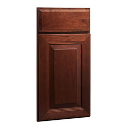 CliqStudios.com - Carlton Cherry Russet Stained Wood Shaker Kitchen Cabinet Sample - The updated ...