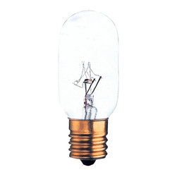 Bulbrite - Tubular Intermediate Light Bulbs - 50 Bulbs - One pack of 50 Bulbs. 120V E17 base T8 incandescent bulb type. Dimmable. Wattage: 25W. Average hours: 1500. Color rendering index: 100. 360 degrees beam spread. Color temperature: 2700K. Lumens: 195. Perfect for sign and display applications. Maximum overall length: 2.6 in.