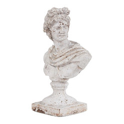 Howard Elliott - Old World Ceramic Female Ceramic Bust - Old World Ceramic Female Ceramic Bust.
