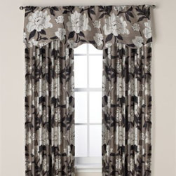 Spencer N. Enterprises - Gardenia Rod Pocket Window Curtain Panel - A bold, all-over floral design covers these beautiful window curtain panels. The panels are made out of an attractive, intricate jacquard fabric and have a lining for added weight and to drape extremely well.