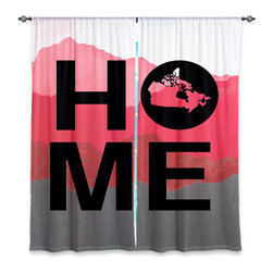 """DiaNoche Designs - Window Curtains Unlined - Jackie Phillips Home Canada Magenta - DiaNoche Designs works with artists from around the world to print their stunning works to many unique home decor items.  Purchasing window curtains just got easier and better! Create a designer look to any of your living spaces with our decorative and unique """"Unlined Window Curtains."""" Perfect for the living room, dining room or bedroom, these artistic curtains are an easy and inexpensive way to add color and style when decorating your home.  The art is printed to a polyester fabric that softly filters outside light and creates a privacy barrier.  Watch the art brighten in the sunlight!  Each package includes two easy-to-hang, 3 inch diameter pole-pocket curtain panels.  The width listed is the total measurement of the two panels.  Curtain rod sold separately. Easy care, machine wash cold, tumble dry low, iron low if needed.  Printed in the USA."""