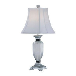 Illumine - White Decorative Lamp: 28.75 in. White Table Lamp with White Fabric Shade CLI-EL - Shop for Lighting & Fans at The Home Depot. The Designer Collection supplied by Commercial Lighting Industries is both modern and stylish, all while maintaining the ability to fuse together many different genres. This collection finds itself at home in many of today s popular design schemes. Whether you re looking for lamps, wall-Lighting, pendants, or novelty lamps, the Designer Collection offers a lighting solution that is sure to satisfy any of your lighting needs.