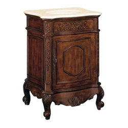 Belle Foret - Belle Foret Petite Single Basin Vanity, Dark Cherry (Bf80071R) - Belle Foret BF80071R Petite Single Basin Vanity, Dark Cherry