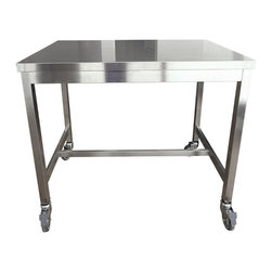 Quovis Counter-Height Table - The Quovis Counter-Height Table is a Design Within Reach exclusive that takes the cake. Giulio Lazzotti clearly had cake-bakers in mind when designing this industrial yet sleek countertop. Although commonly used by chefs across the world, it's not a prerequisite to purchase. Don't let that stop you from pretending to be Bobby Flay's sous chef as you're whipping up a midnight snack. It'll make that boxed mac n'cheese taste that much better (no promises)