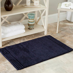 Safavieh - Safavieh Spa 2400 Gram Plush Navy 21 x 34 Bath Rug (Set of 2) - Turn any bathroom into a spa with an ultra luxurious extra dense bath rug. Bath rug measures 21 inches high x 34 inches wide and this item comes in a set of two.