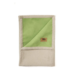 West Paw Design - Big Sky Blanket Dog Bed in Jade Green, Large - West Paw Design's Big Sky Blanket® for pets is hand sewn in Montana and these super plush blankets have faux suede on one side and silky fabric on the other. Available in home decor-friendly colors and big sizes to keep dog's dirt, dander and drool off couches, chairs, beds and backseats. So snuggly customers may want to buy two - one for themselves and one for their furry friends. Machine washable (cold) and tumble dry. Made in Montana, USA