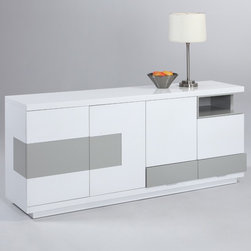 Chintaly Imports - Summer Modern Four-Door Buffet - Summer Modern Four-Door Buffet