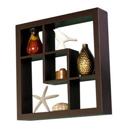 Southern Enterprises - Southern Enterprises Madison Display Shelf in Espresso - Southern Enterprises - Wall Display Shelves - EN5161. These elegant display cubes are a perfect solution for all your decor needs! This cube display shelf will provide an easy way to update any wall whether in a traditional or contemporary setting. A cool and contemporary way to show off souvenirs small treasures or art this wall cube creates a dynamic arrangement in a living or dining room.