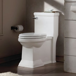American Standard Town Square FloWise RH Elongated 1-Piece Toilet - •High efficiency, ultra-low consumption (4.8Lpf/1.28 gpf), utilizes 20% less water