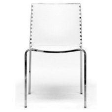 Gridley White Plastic Modern Dining Chair Set (Set of 2) | Overstock.com