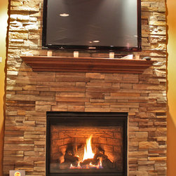 "Heatilator Novus nXt 33"" - Heatilator Novus nXt 33"" direct vent gas installed in our showroom. Puts out a great amount of heat for a smaller fireplace. Great bang for your buck, less than $2,000"