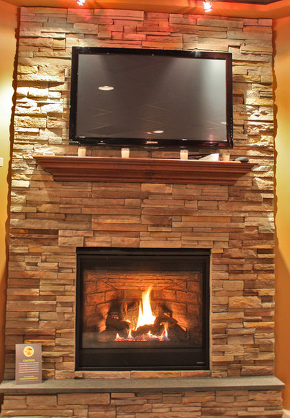 TEDE STONE VENEER FIRE PLACE WALL