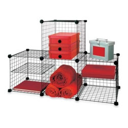 United Storage Technologies Inc. - Grid Wire Modular Shelving and Storage Cubes - A place for everything, and everything in its place - easier said than done in a tiny dorm room. But with a little ingenuity and the right tools, you can manage to store a lot more in your room than you'd think.