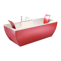 Modo Bath - Kali Color Free Standing Bathtub in Red - Kali Color Free Standing Bathtub in Red