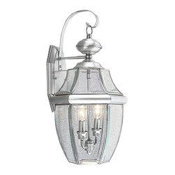 Livex - Livex Monterey Outdoor Wall Lantern 2251-91 - Finish: Brushed Nickel