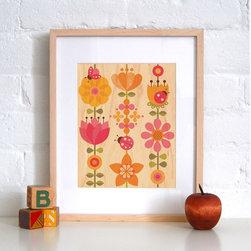 Petit Collage Ladybug - Print on Wood - Ladybug - Print on Wood