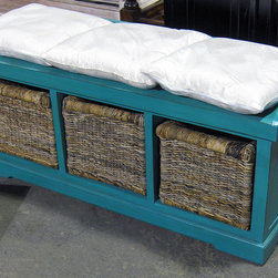 Bench With 3 Baskets R022 Pl