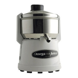 "STANDERS, INC. - Omega Centrifuge Juicer 9000, 8""W x 9""D x 12-1/2""H - Omega Centrifuge Juicer 9000 has stainless steel top and can juice 20 percent to 30 percent more juice than most pulp ejectors. It is simple to operate and maintain. It has been constructed of the highest quality material and all-stainless steel parts, built to provide a lifetime of delicious, healthful fresh fruit and vegetable drinks. It has efficient 1/3 HP induction motor and optimum speed of 3600 RPM for peak efficiency."