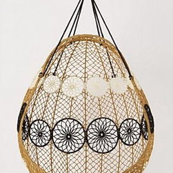 """Anthropologie - Knotted Melati Hanging Chair - Hanging hardware requiredPolyester48""""H, 37""""W, 30""""DImported"""