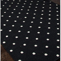 Black White Polka Dot Rug -