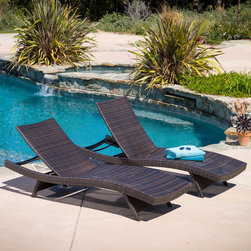 Christopher Knight Home - Christopher Knight Home Toscana Outdoor Brown Wicker Lounge Chairs (Set of 2) - Add an exotic touch to your patio with the Toscana outdoor lounge set. With rolling curves these chairs are built for comfort and style. These wicker chairs feature a durable construction that is both weather resistant and UV protected.
