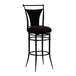 Hillsdale - Hillsdale Cierra 26 Inch Swivel Counter Height Bar Stool - Hillsdale - Bar Stools - 4592826 - The Cierra collection is bold and contemporary turning heads and impressing guests with its svelte design sense and sturdy construction. Tastefully understated Cierra features tapering supports with a rich black finish for an eye-arresting appeal.