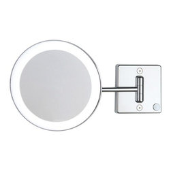 WS Bath Collections - Discolo LED 36-1 KK Magnifying Mirror 3x (Cable & Plug) - Discolo LED by WS Bath Collections, Wall Mounted Magnifying, Lighted LED Mirror with 3x Magnification