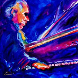 WL - Blue Jazz Pianist Musician Playing Piano Portrait Wall Art Painting - This gorgeous Blue Jazz Pianist Musician Playing Piano Portrait Wall Art Painting has the finest details and highest quality you will find anywhere! Blue Jazz Pianist Musician Playing Piano Portrait Wall Art Painting is truly remarkable.