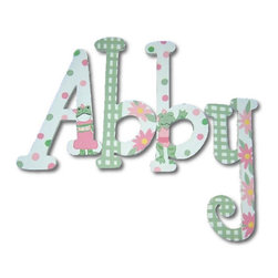 RR - Abby Girly & Froggy Hand Painted Wall Letters - Girly and Froggy Hand Painted Wall Letters