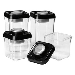 Cuisinart - Cuisinart Fresh Edge 8-Piece Vacuum Sealed Food Storage Containers - Food storage containers and lids with built-in vacuum pump