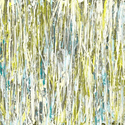 """Lindsay Cowles Fine Art - 727 Chartreuse Print On Stretched Canvas, 16""""X20"""" - Gallery wrapped print on stretched canvas with hand applied texture and white painted sides. 1.5"""" stretcher bars. Ready to hang! No need for framing with the painted sides! Made to Order."""