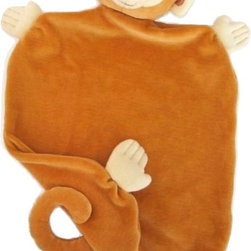 Apple Park - Apple Park Monkey Picnic Pal Blankie - Take your Picnic Pal Blankie for a friend on the go! Snuggle or play with their soft 100% organic cotton bodies, silk noses and naturally hypoallergenic filling.
