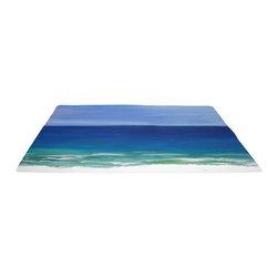 "xmarc - Beach Area Rugs, Beautiful Beach, 96""W X 48""Tall - Beautiful beach plush area rug from my art."
