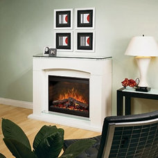 Contemporary Indoor Fireplaces by Hayneedle