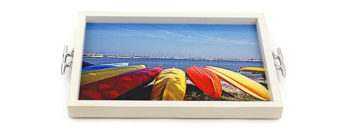 My Méz - Kayaks Tray/Wall Art with Cleat Handles - It's a tray; It's wall art. It's BOTH, and It's Made In the USA!