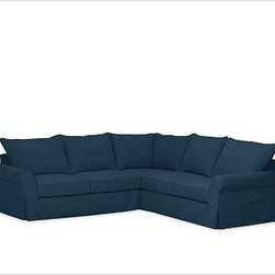 """PB Comfort Roll Arm 3-Piece L-Shaped Corner Sectional Slipcover, Brushed Canvas - Designed exclusively for our PB Comfort Sectional, these soft, inviting slipcovers retain their smooth fit and remove easily for cleaning. Left 3-Piece Sectional with Box Cushions shown. Select """"Living Room"""" in our {{link path='http://potterybarn.icovia.com/icovia.aspx' class='popup' width='900' height='700'}}Room Planner{{/link}} to select a configuration that's ideal for your space. This item can also be customized with your choice of over {{link path='pages/popups/fab_leather_popup.html' class='popup' width='720' height='800'}}80 custom fabrics and colors{{/link}}. For details and pricing on custom fabrics, please call us at 1.800.840.3658 or click Live Help. All slipcover fabrics are hand selected for softness, quality and durability. Left-arm configuration is shown; also available in right-arm configuration. {{link path='pages/popups/sectionalsheet.html' class='popup' width='720' height='800'}}Left-arm or right-arm configuration{{/link}} is determined by the location of the arm on the love seat as you face the piece. This is a special-order item and ships directly from the manufacturer. To see fabrics available for Quick Ship and to view our order and return policy, click on the Shipping Info tab above. Watch a video about our exclusive {{link path='/stylehouse/videos/videos/pbq_v36_rel.html?cm_sp=Video_PIP-_-PBQUALITY-_-SUTTER_STREET' class='popup' width='950' height='300'}}North Carolina Furniture Workshop{{/link}}."""
