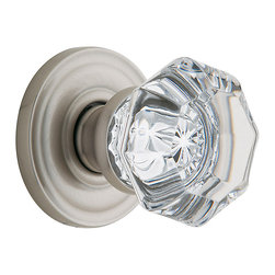 Baldwin Hardware - Baldwin Estate 5080 Fillmore Crystal  Knob Set - Satin Nickel - Passage - 5080 Product Details: