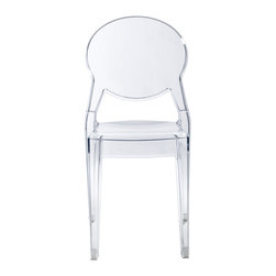 Eurostyle - Igloo Chair (Set of 4) - Transparent - Recyclable polycarbonate