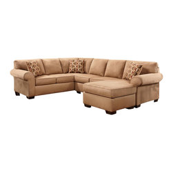 Chelsea Home Furniture - Chelsea Home Allegany 2-Piece Sectional with Full Sleeper in Patriot Mocha - Allegany 2-Piece Sectional w/ Full Sleeper in Patriot Mocha belongs to the Chelsea Home Furniture collection