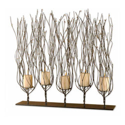 None - Fedora Dark Brown Candleholder - These stylish candlestick holders feature a distinctive design to create a more dramatic look. Perfect for creating a more stylish table setting or atmosphere,these eye-catching candlestick holders are a great decorative or accent item.
