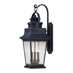 Savoy House - Savoy House 5-3550-25 Barrister Wall  Mount Lantern - The Barrister Lantern collection boasts classic styling that will warm every home's exterior with an inviting glow. The Slate finish is the perfect companion to the Clear Seeded glass.