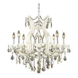 Elegant Lighting - Elegant Lighting 2800D26WH-GT/RC Maria Theresa Collection Hanging Fixture - Elegant Lighting 2800D26WH-GT/RC Maria Theresa Collection Hanging Fixture